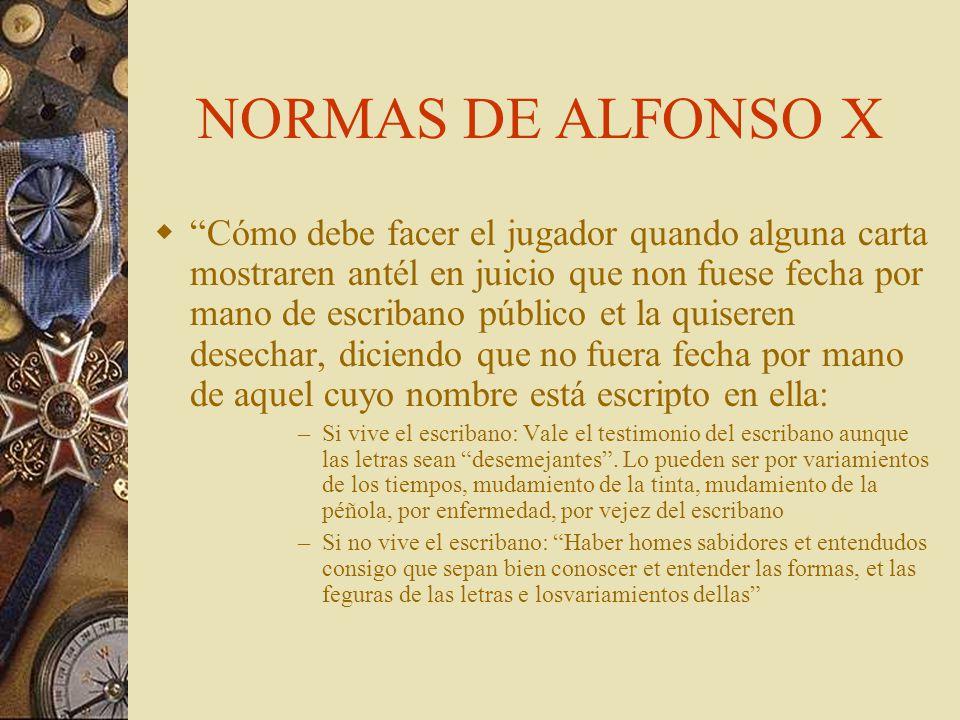 NORMAS DE ALFONSO X