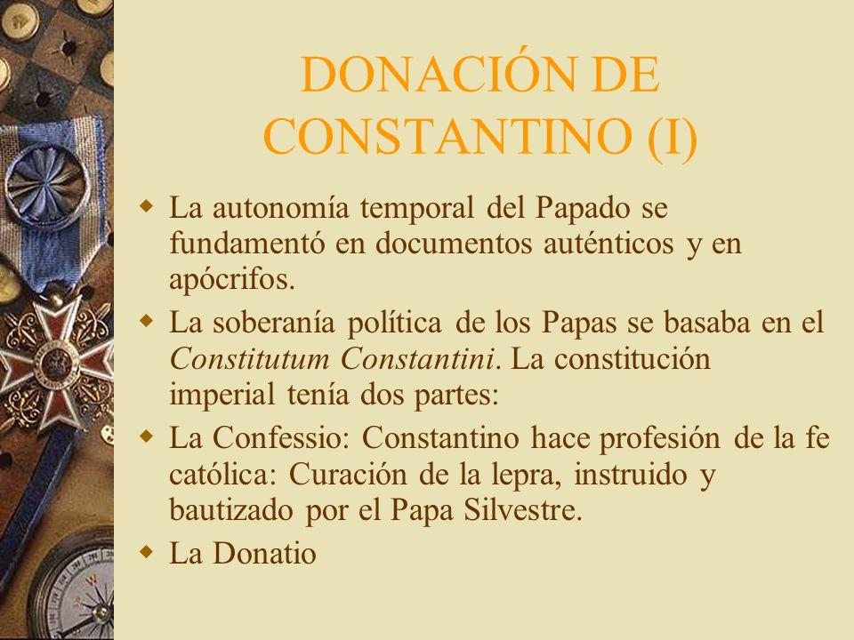 DONACIÓN DE CONSTANTINO (I)