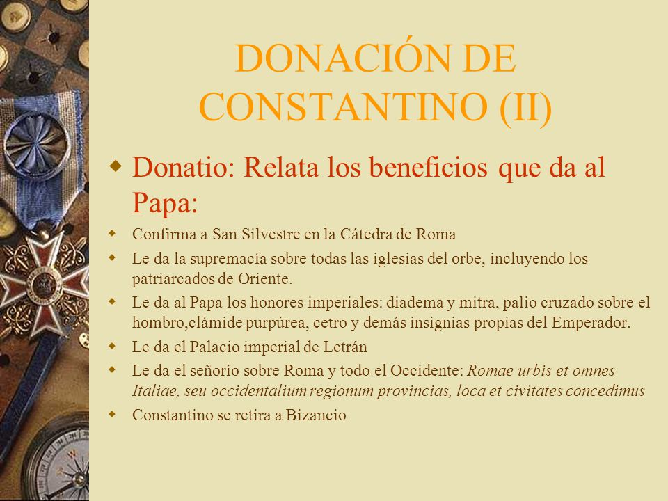 DONACIÓN DE CONSTANTINO (II)