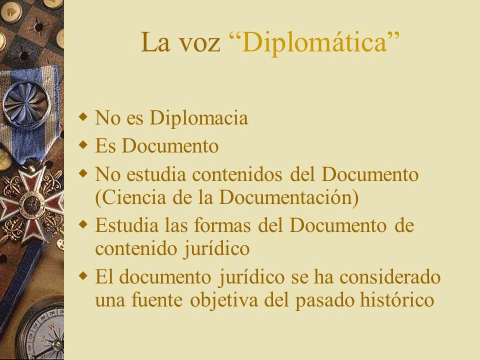 La voz Diplomática No es Diplomacia Es Documento