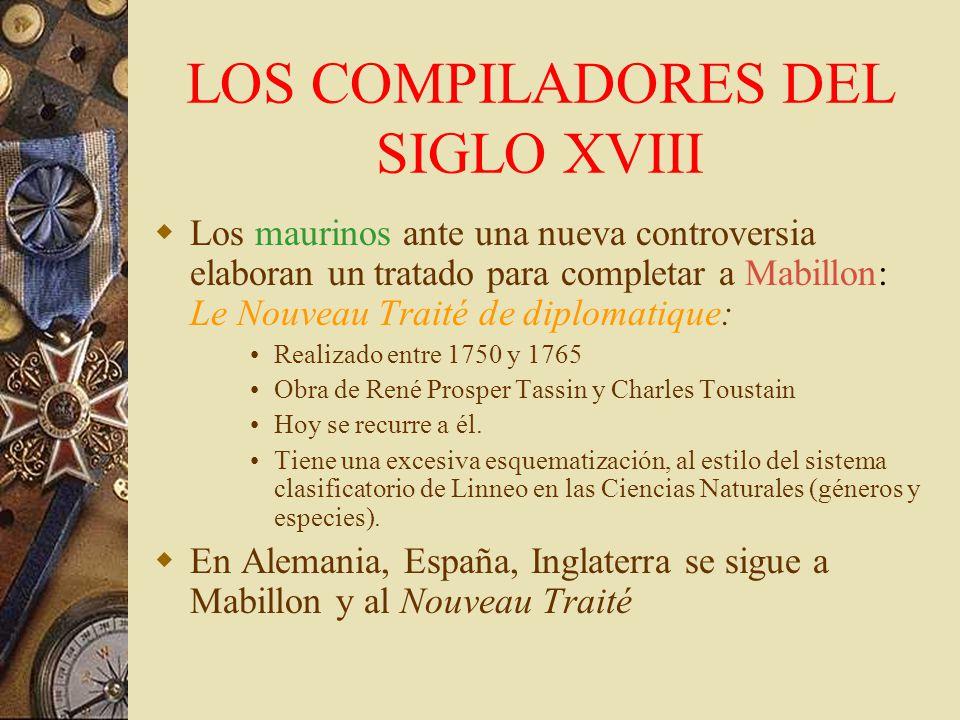 LOS COMPILADORES DEL SIGLO XVIII