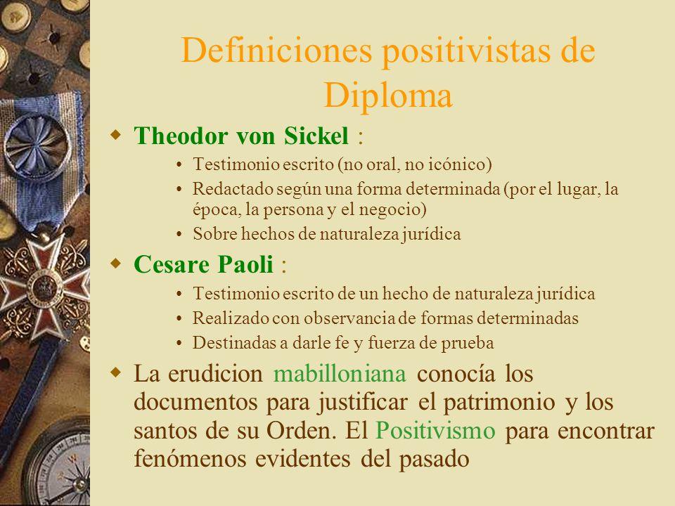 Definiciones positivistas de Diploma