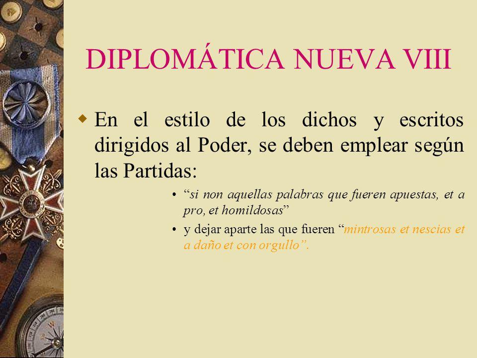 DIPLOMÁTICA NUEVA VIII