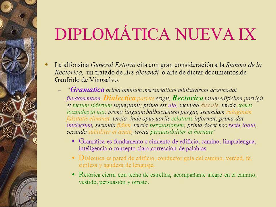DIPLOMÁTICA NUEVA IX