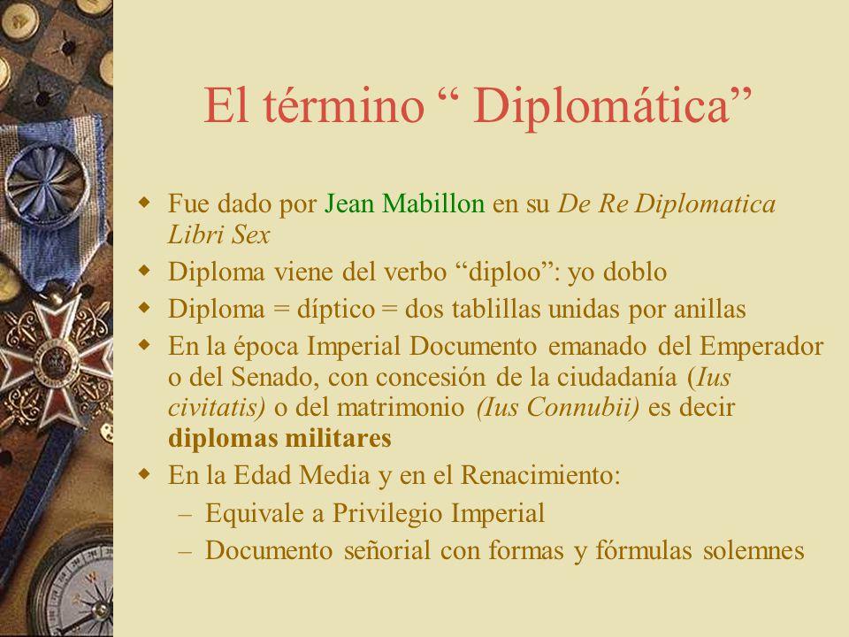 El término Diplomática
