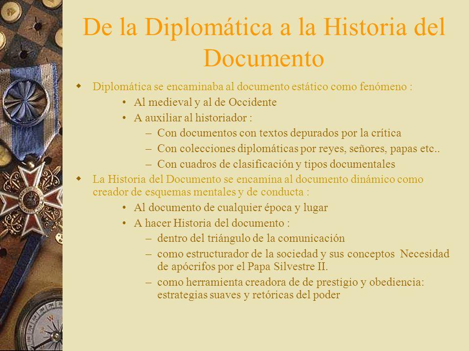 De la Diplomática a la Historia del Documento