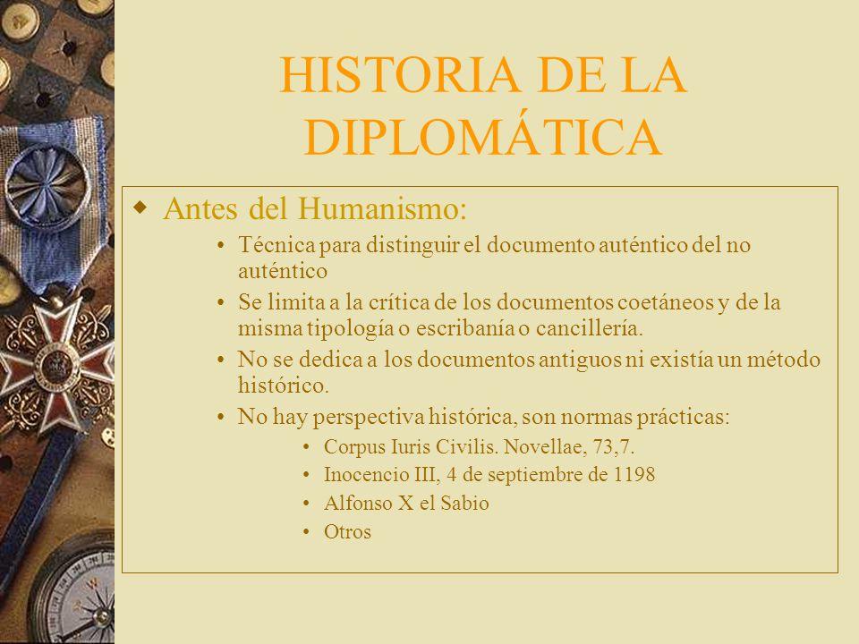 HISTORIA DE LA DIPLOMÁTICA
