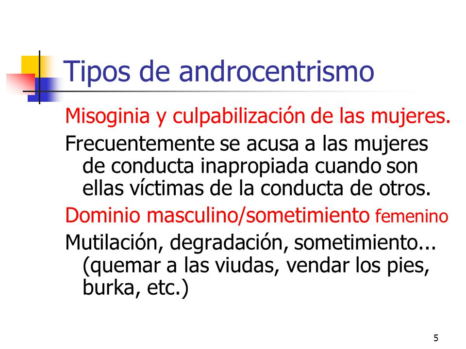 Tipos de androcentrismo