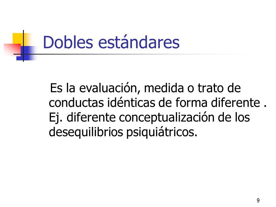 Dobles estándares