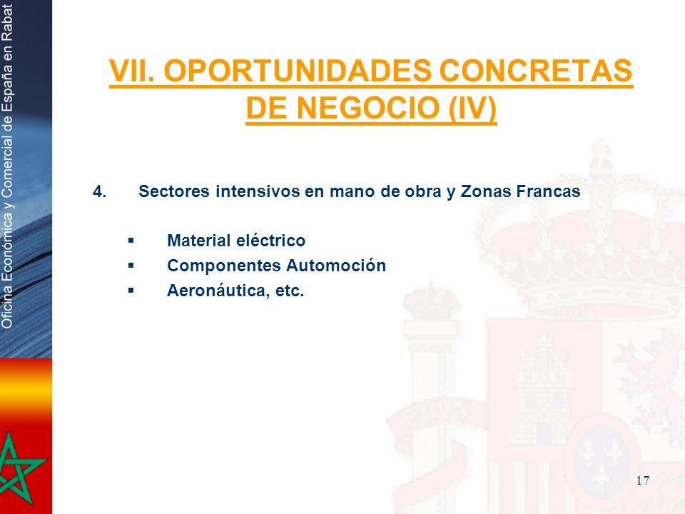 VII. OPORTUNIDADES CONCRETAS DE NEGOCIO (IV)