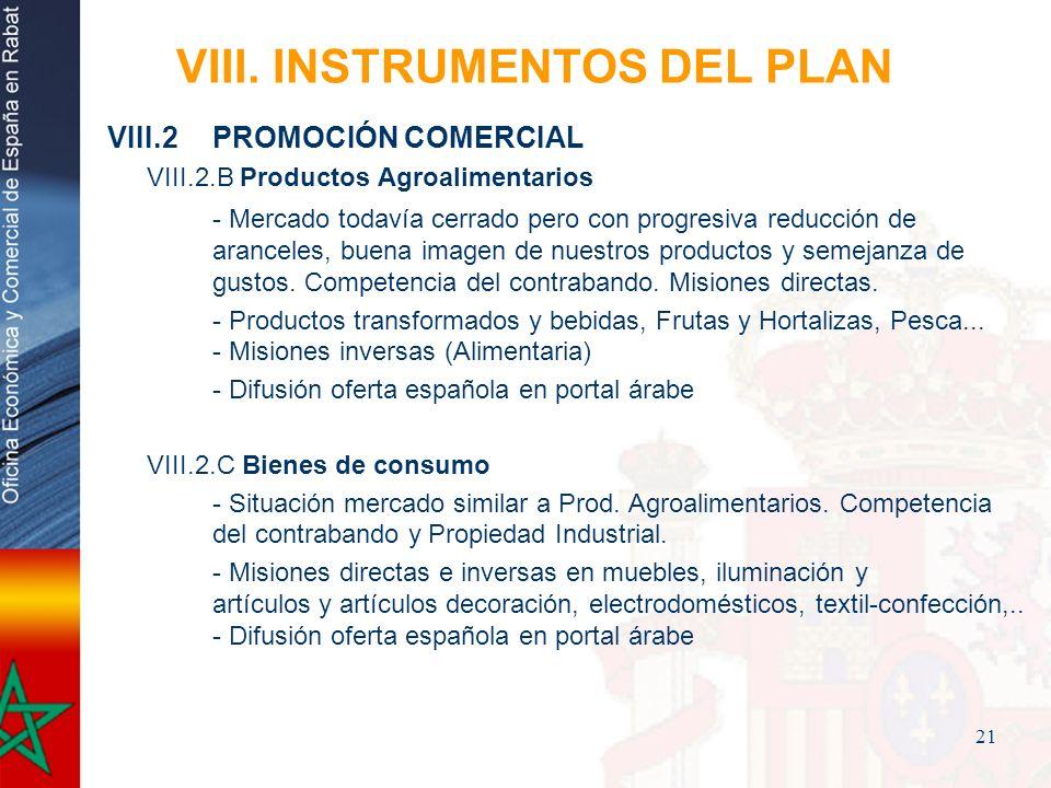 VIII. INSTRUMENTOS DEL PLAN