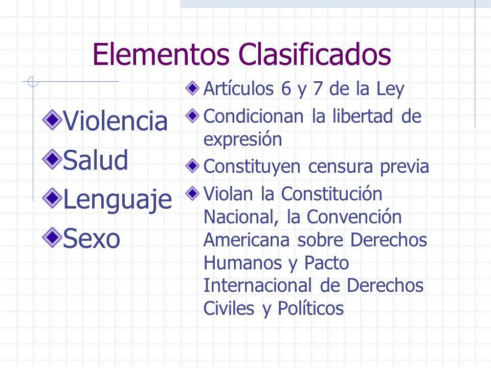 Elementos Clasificados