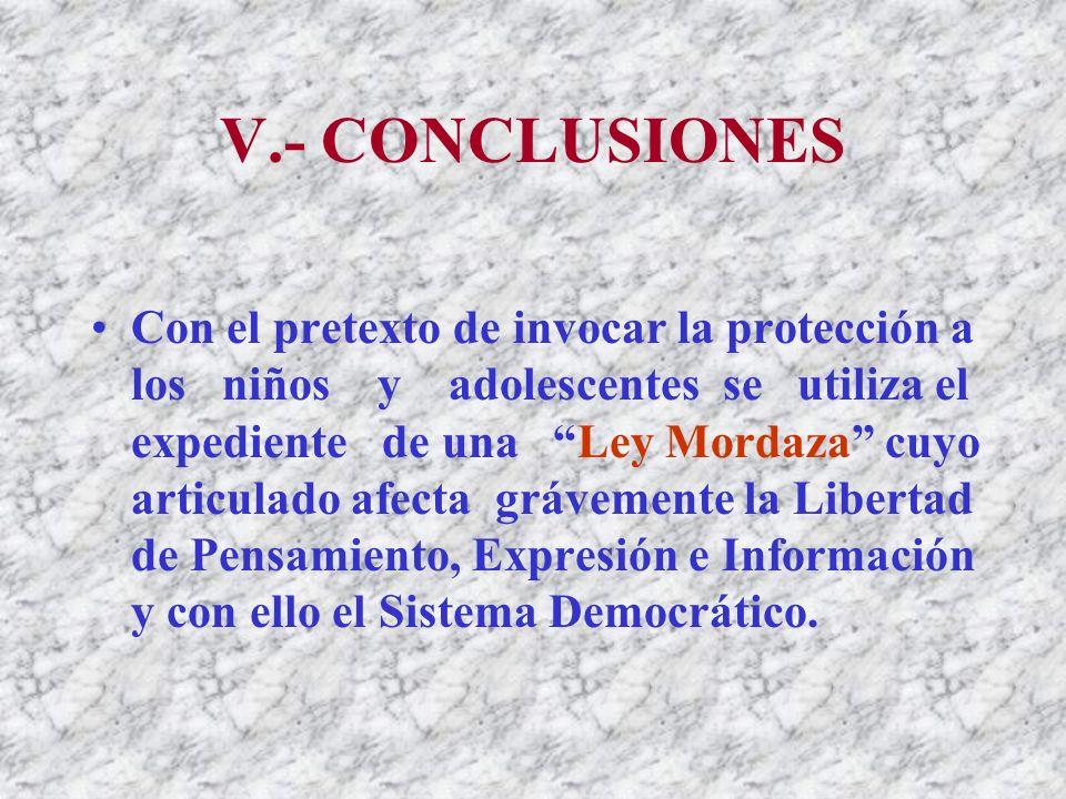 V.- CONCLUSIONES