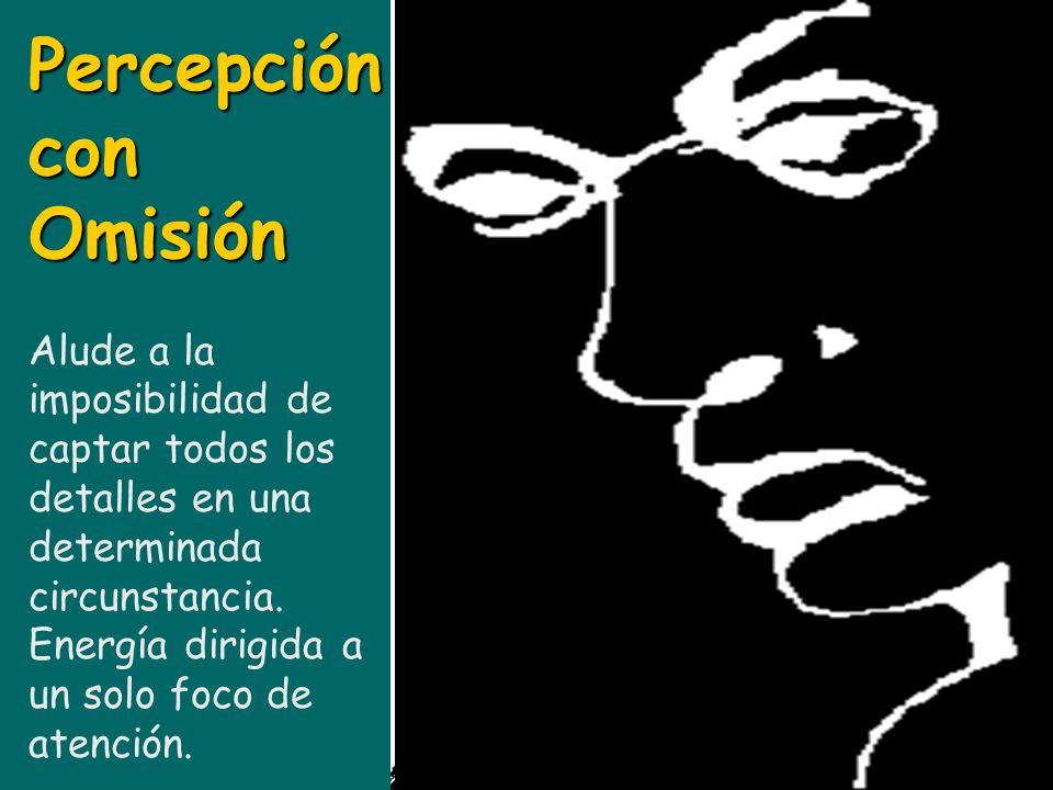 Percepción con Omisión Alude a la imposibilidad de