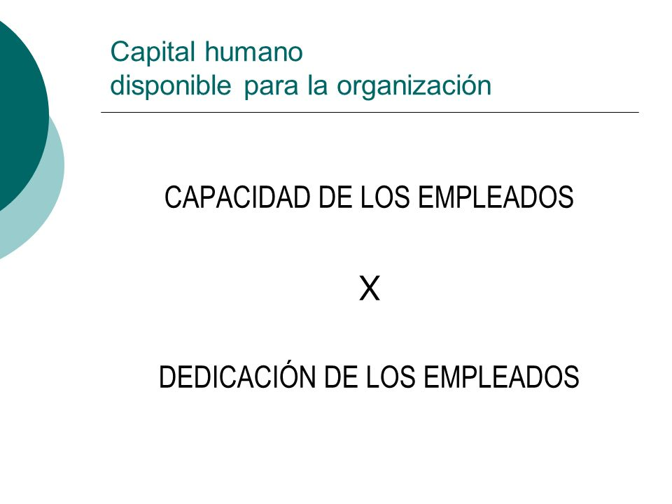 Capital humano disponible para la organización