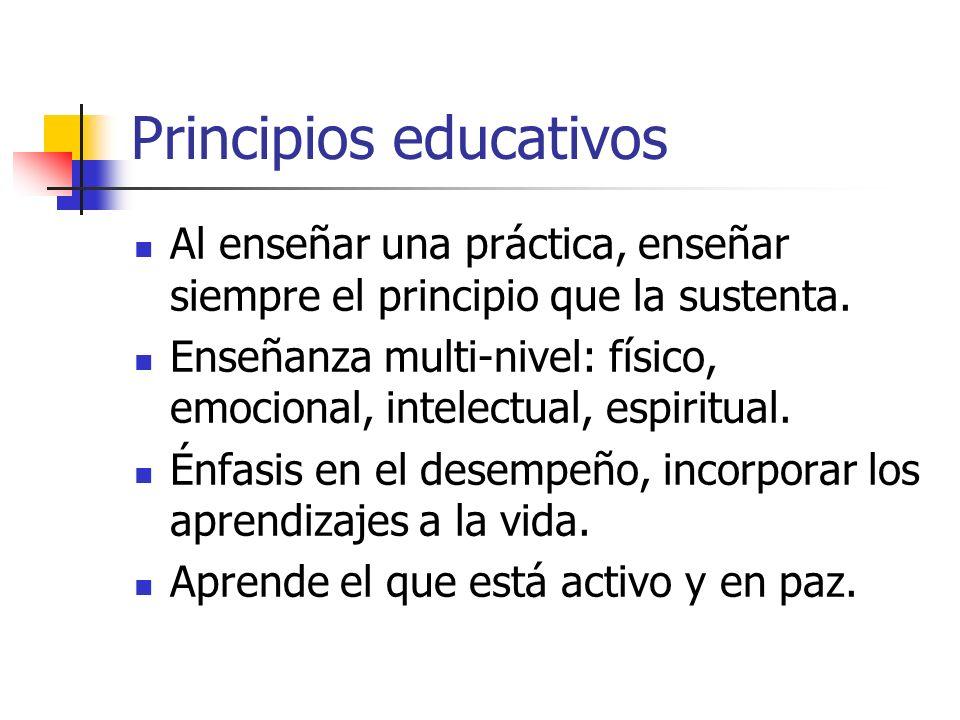 Principios educativos
