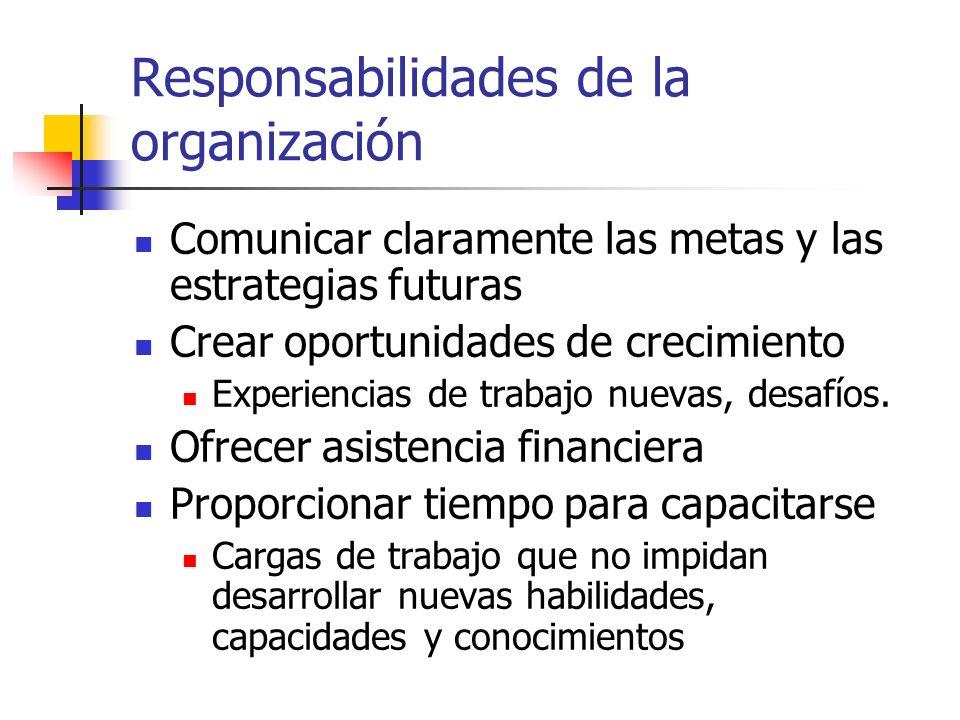 Responsabilidades de la organización