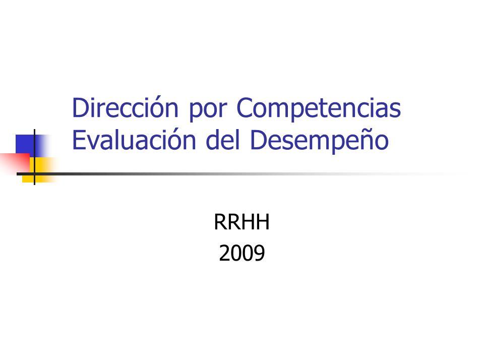 Dirección por Competencias Evaluación del Desempeño