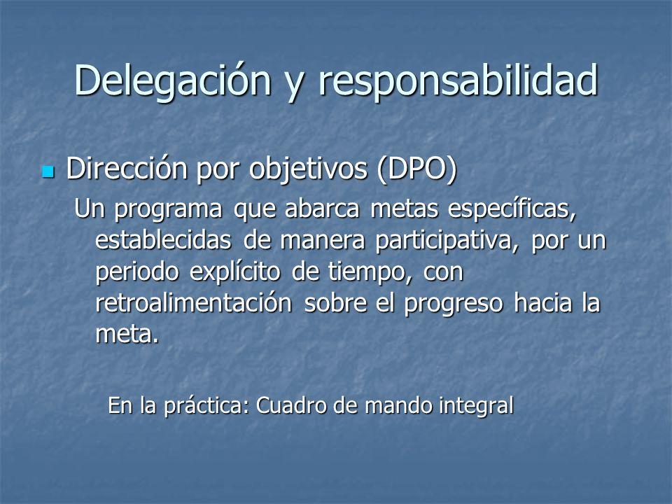 Delegación y responsabilidad
