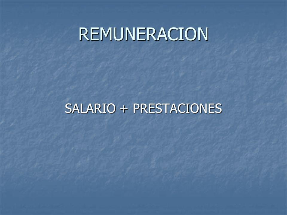 SALARIO + PRESTACIONES