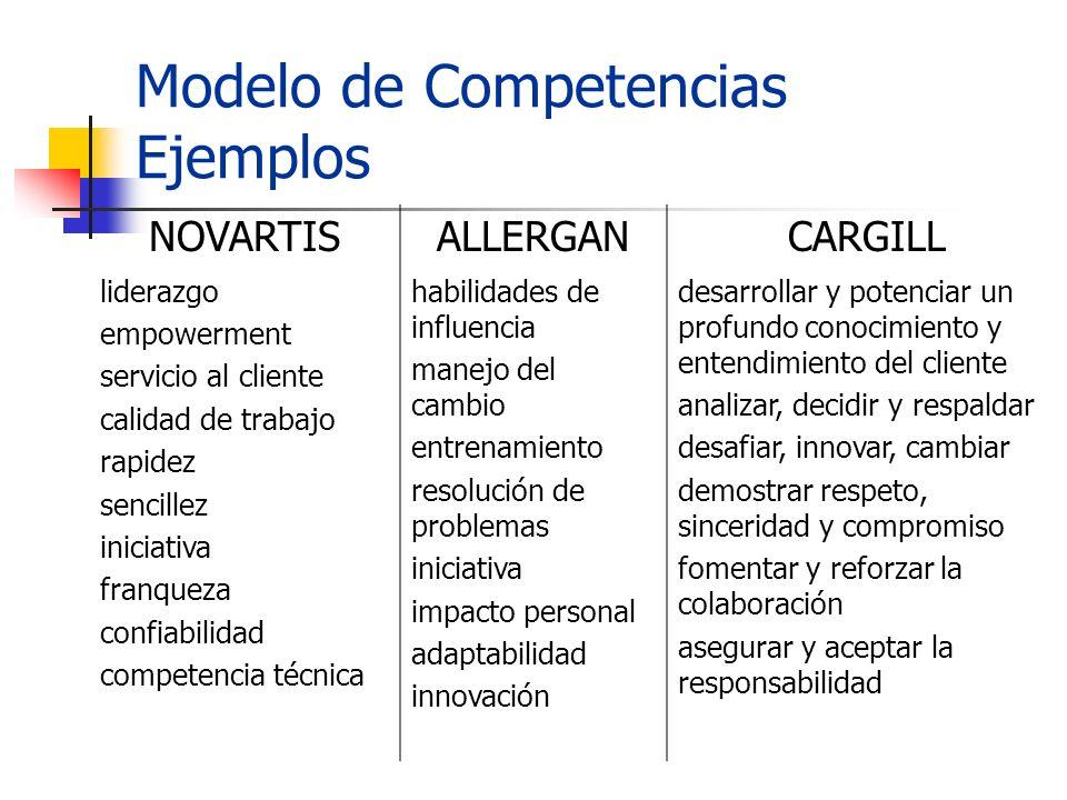 Modelo de Competencias Ejemplos