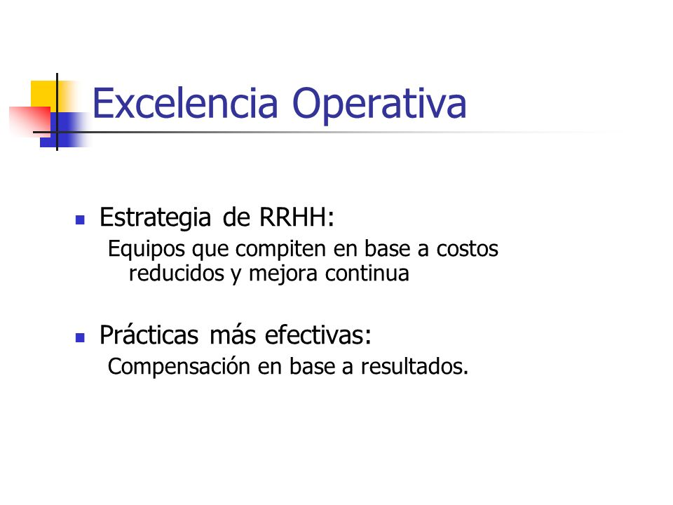 Excelencia Operativa Estrategia de RRHH: Prácticas más efectivas: