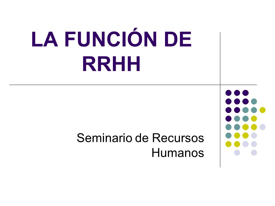 Seminario de Recursos Humanos