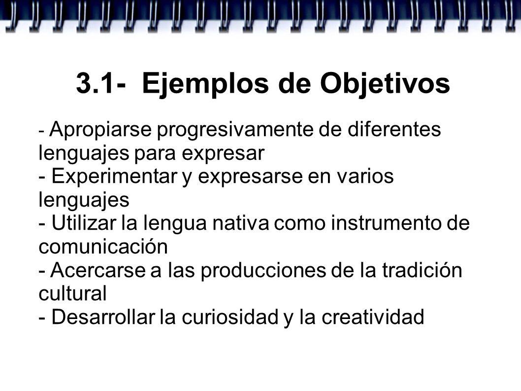 3.1- Ejemplos de Objetivos