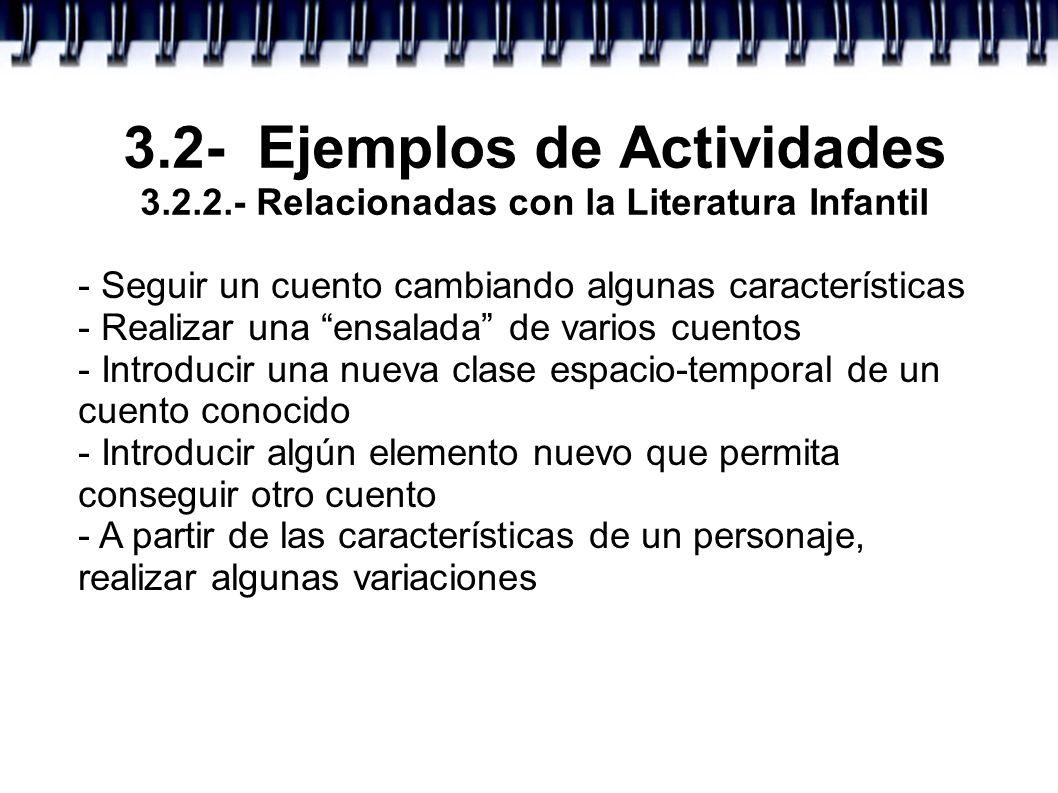3. 2- Ejemplos de Actividades 3. 2. 2