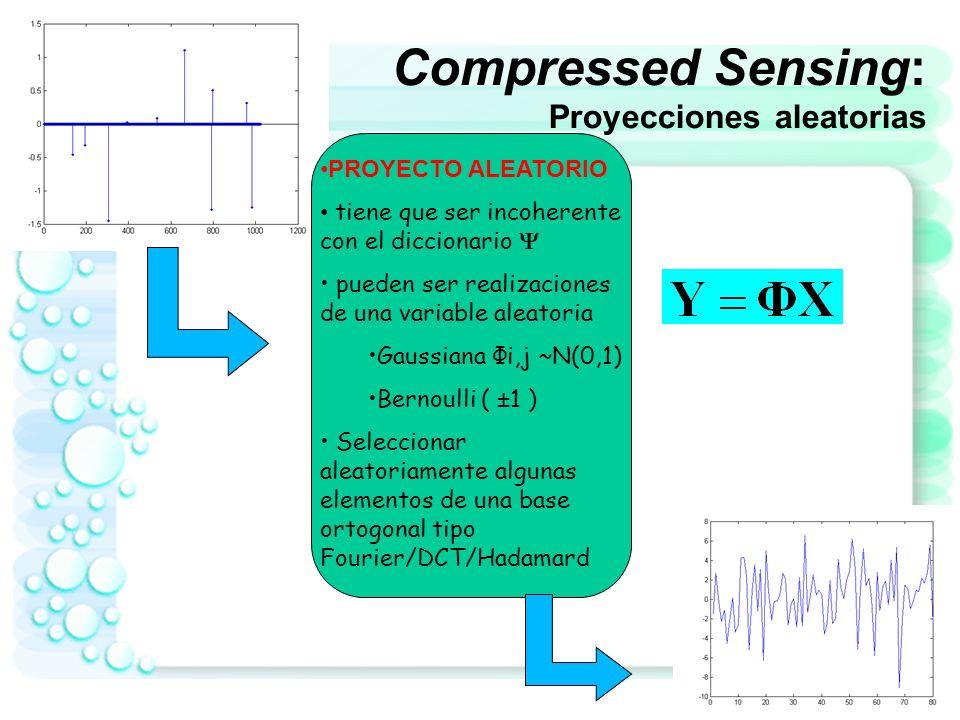 Compressed Sensing: Proyecciones aleatorias