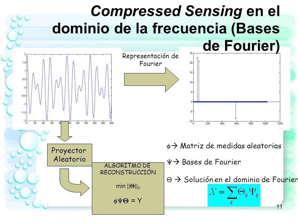 Compressed Sensing en el dominio de la frecuencia (Bases de Fourier)