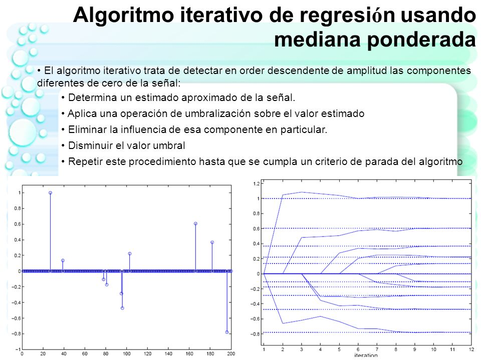 Algoritmo iterativo de regresión usando mediana ponderada