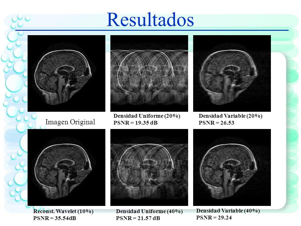 Resultados Imagen Original Densidad Uniforme (20%) PSNR = 19.35 dB