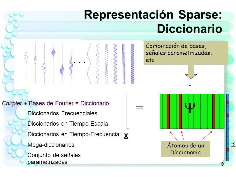 Representación Sparse: Diccionario