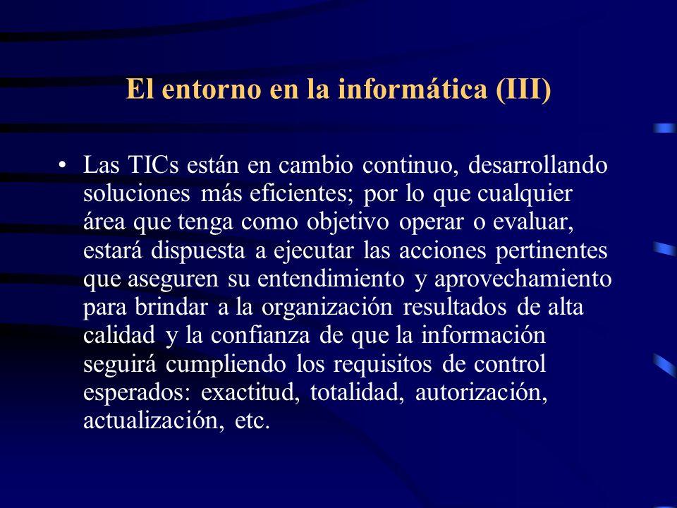 El entorno en la informática (III)