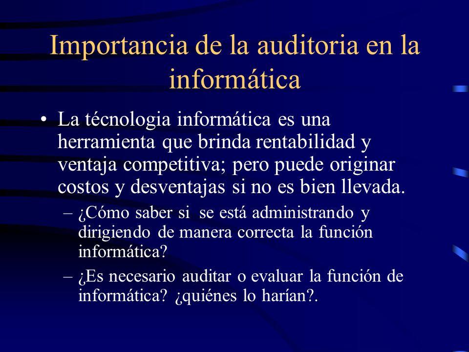 Importancia de la auditoria en la informática