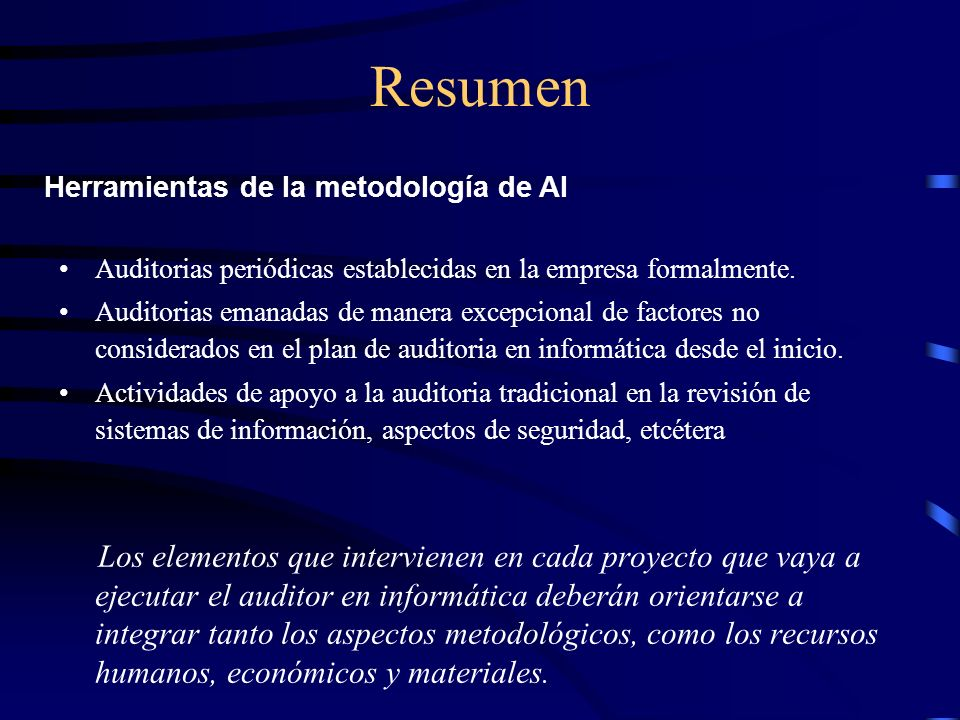 Resumen Herramientas de la metodología de AI
