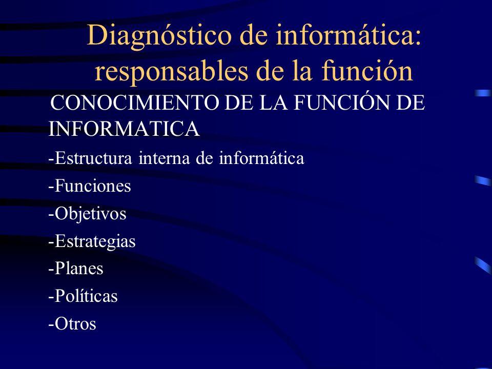 Diagnóstico de informática: responsables de la función