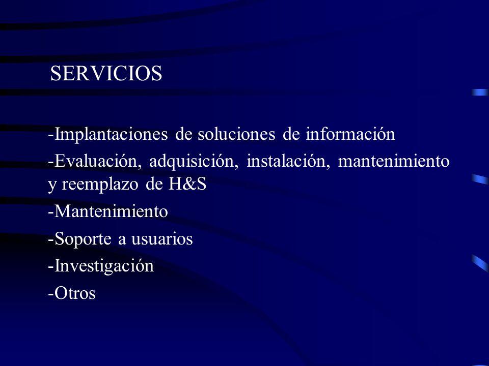 SERVICIOS Implantaciones de soluciones de información