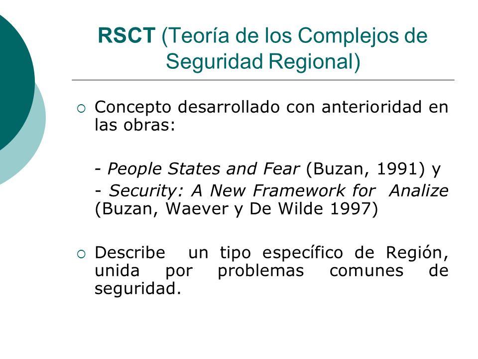 RSCT (Teoría de los Complejos de Seguridad Regional)