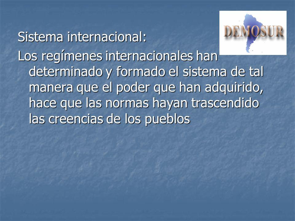Sistema internacional: