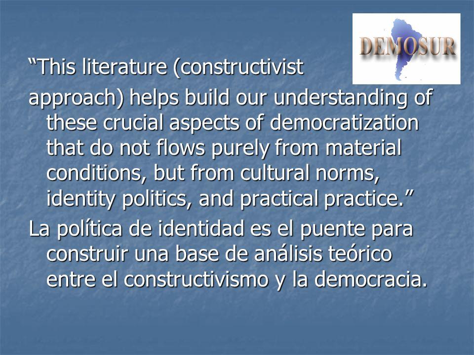 This literature (constructivist