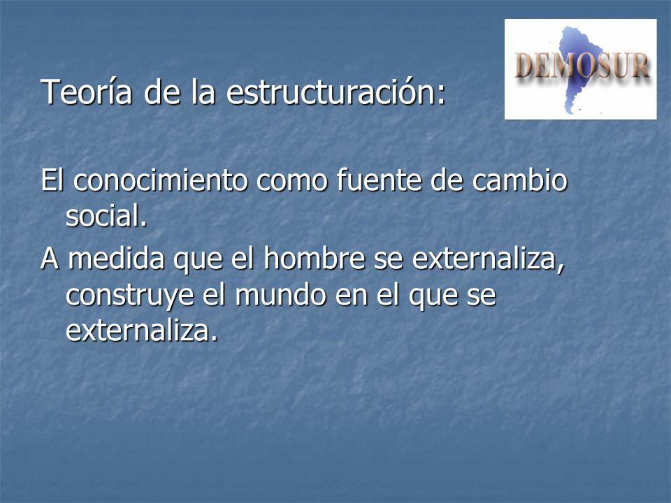 Teoría de la estructuración: