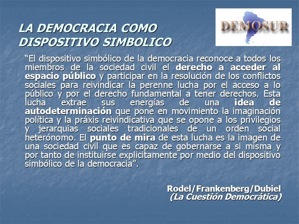 LA DEMOCRACIA COMO DISPOSITIVO SIMBOLICO