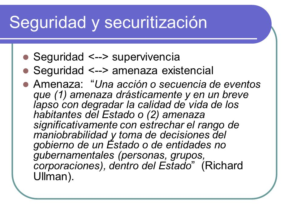 Seguridad y securitización
