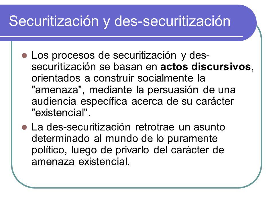 Securitización y des-securitización