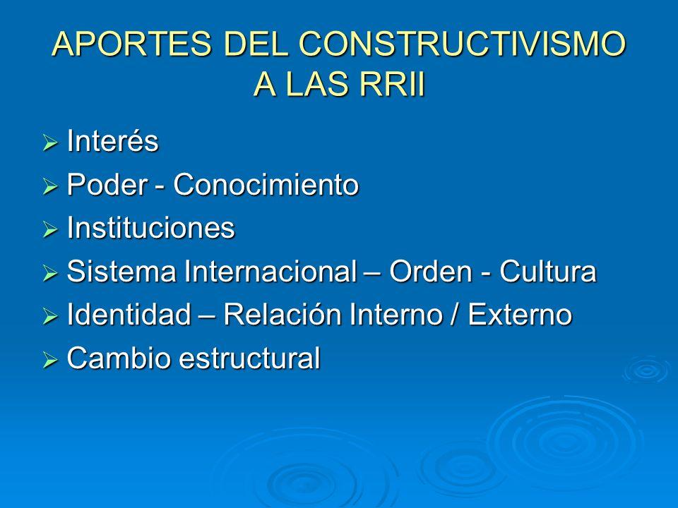 APORTES DEL CONSTRUCTIVISMO A LAS RRII