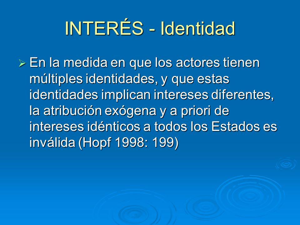 INTERÉS - Identidad
