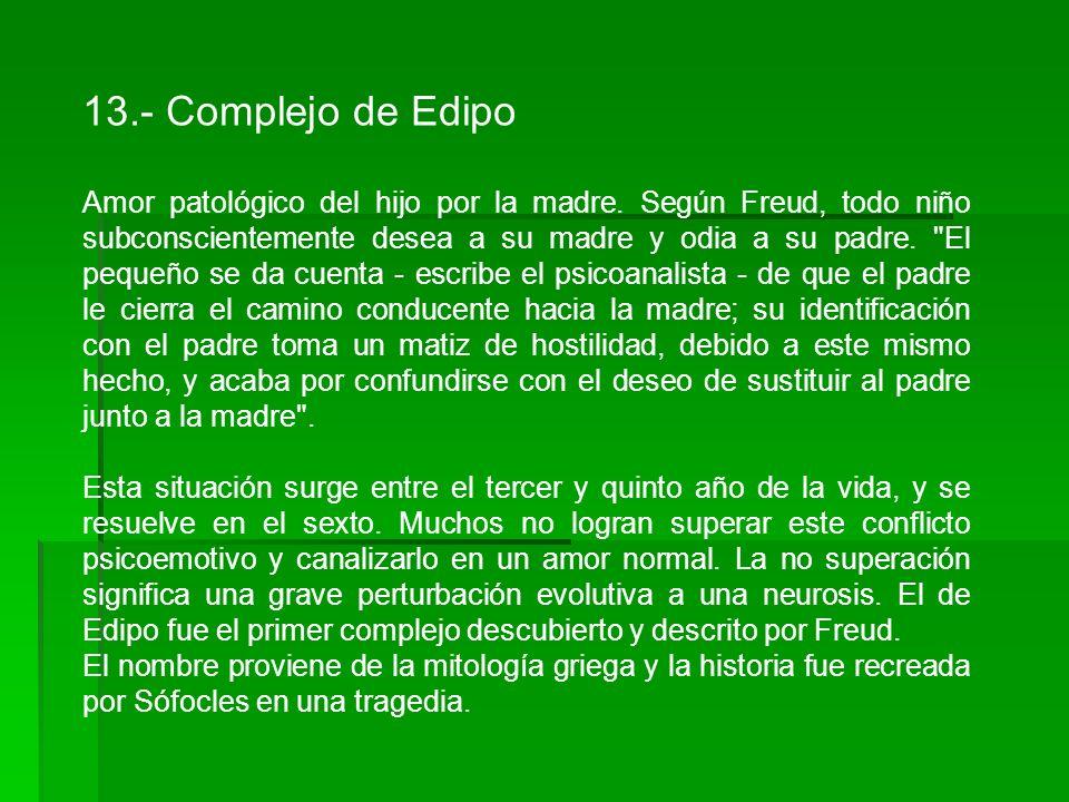 13.- Complejo de Edipo