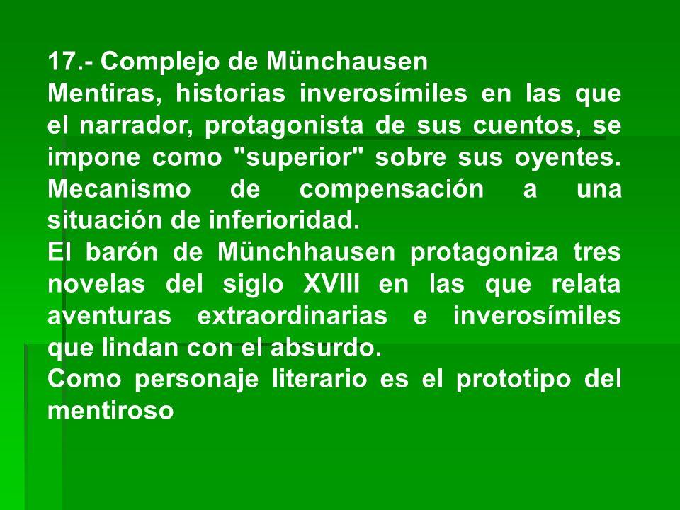 17.- Complejo de Münchausen